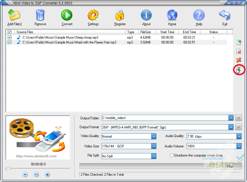 allok video to 3gp converter 6.2.0603