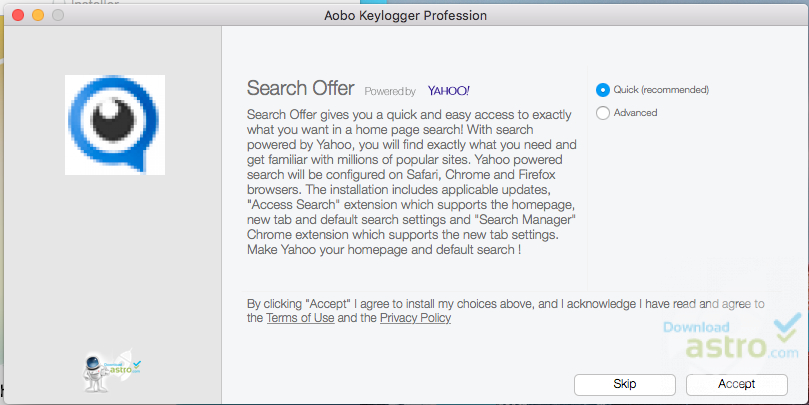 Salient Features of Aobo Mac OS X Keylogger for Mac: