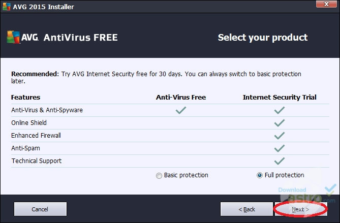 free avg installer for windows 7