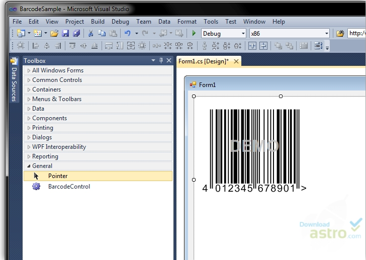 Barcode  NET Windows Forms Control DLL - latest version 2019