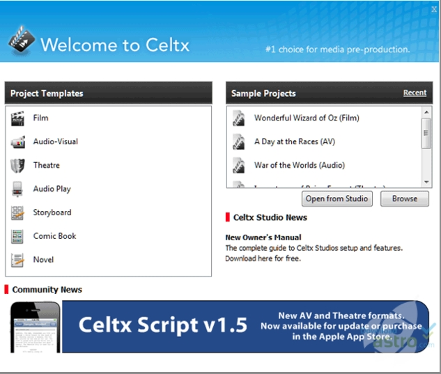 Celtx - latest version 2019 free download