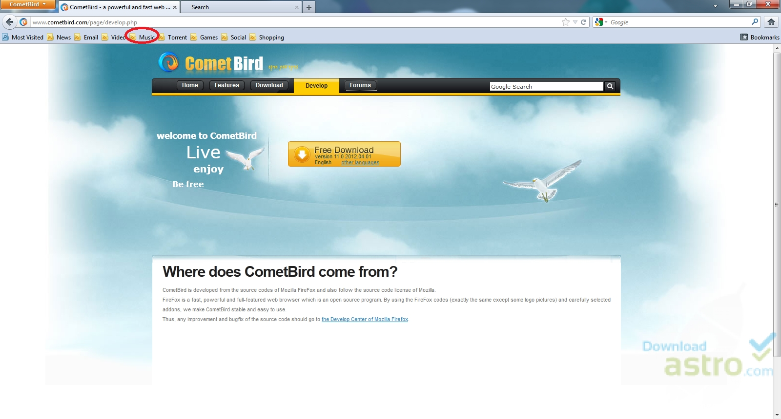 Download cometbird for windows xp.