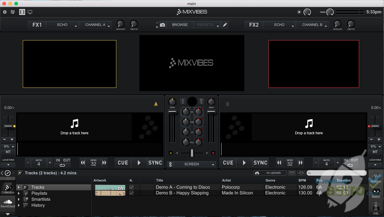 Cross DJ Free for Mac - latest version 2019 free download