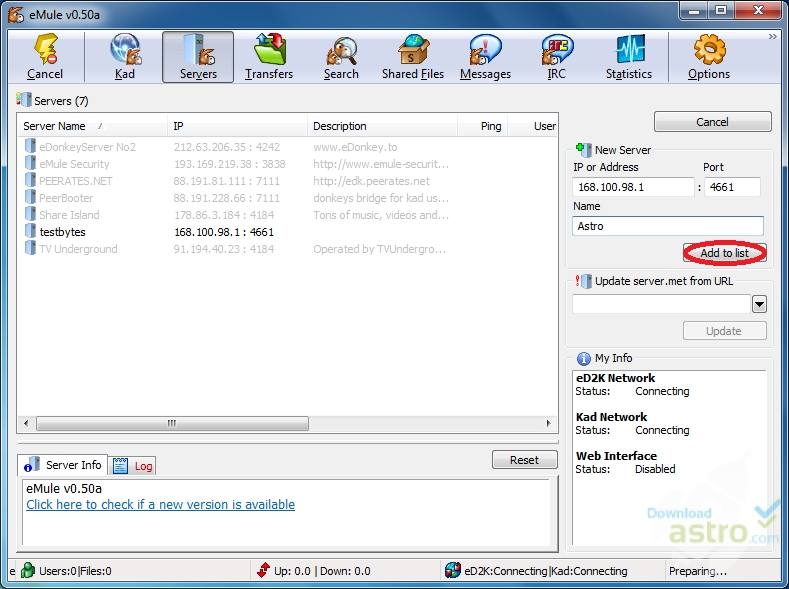 eMule - latest version 2019 free download