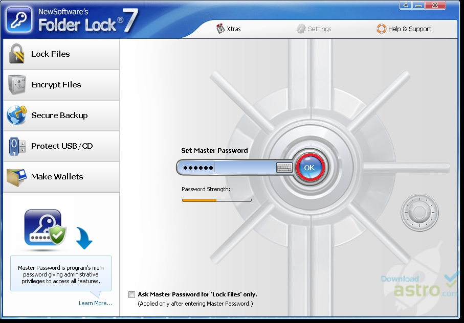 how to add lock to a folder