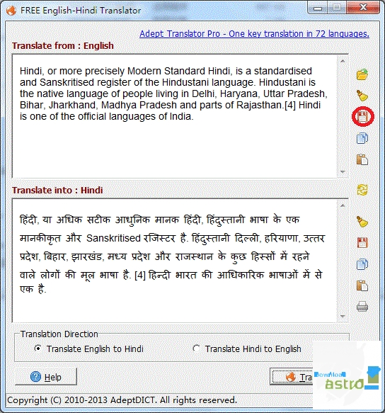 FREE English-Hindi Translator - latest version 2019 free download