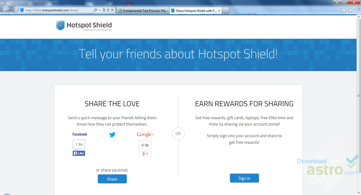 hotspot shield free download for windows 7 64 bit