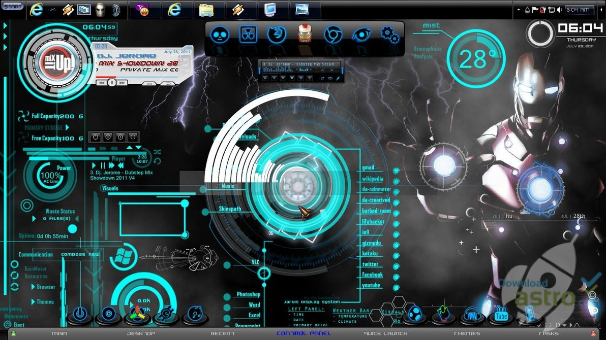 iron man 2 windows 7 theme latest version 2018 free download