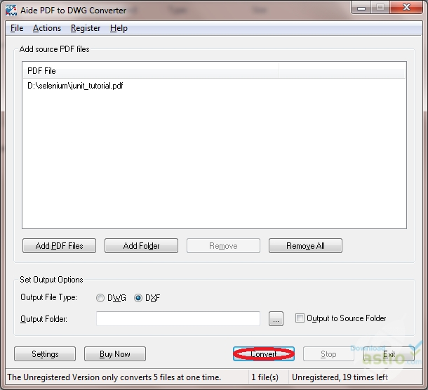 aide pdf to dwg converter free download