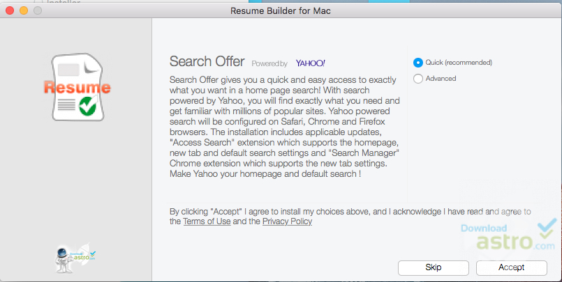 resume builder for mac latest version 2018 free download