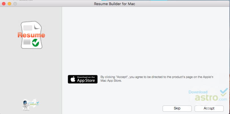 Resume Builder for Mac - latest version 2018 free download