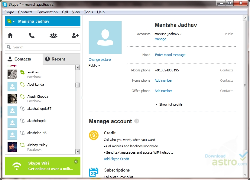 version skype windows 7
