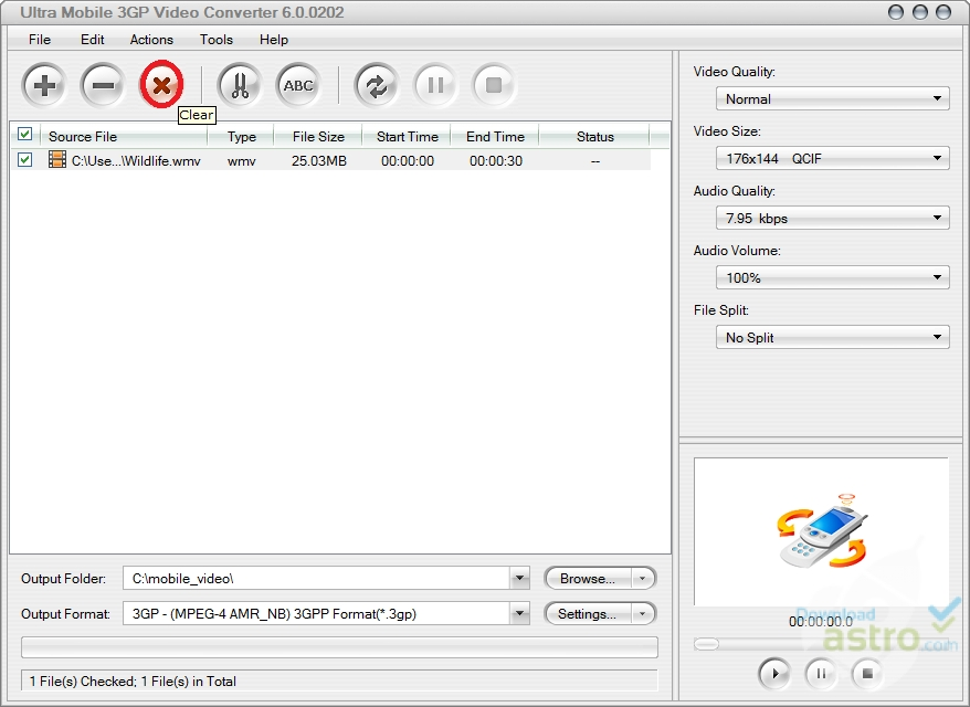 ultra mobile 3gp video converter 5.3.0402