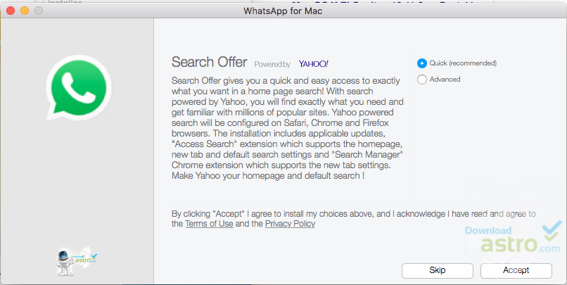 whatsapp mac 10.7.5