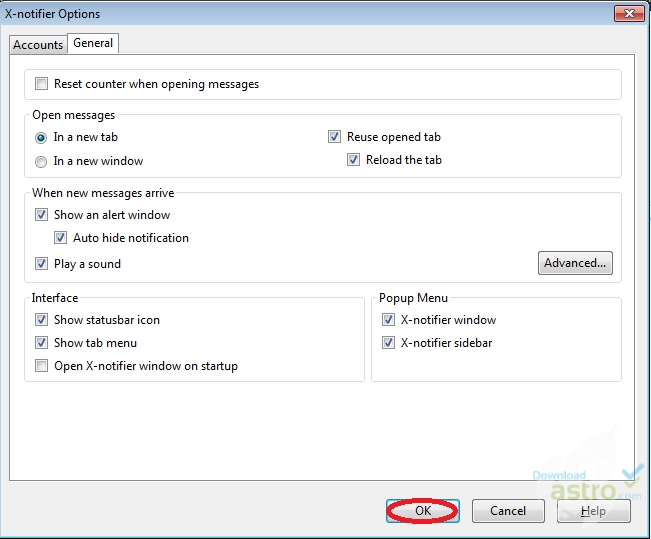 X-notifier for Firefox - latest version 2017 free download