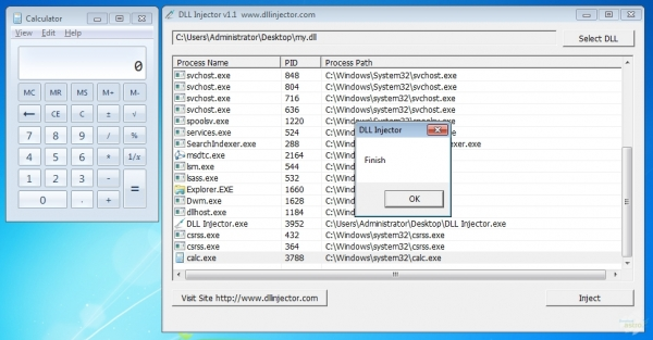 Captura de Pantalla DLL Injector Latest Version