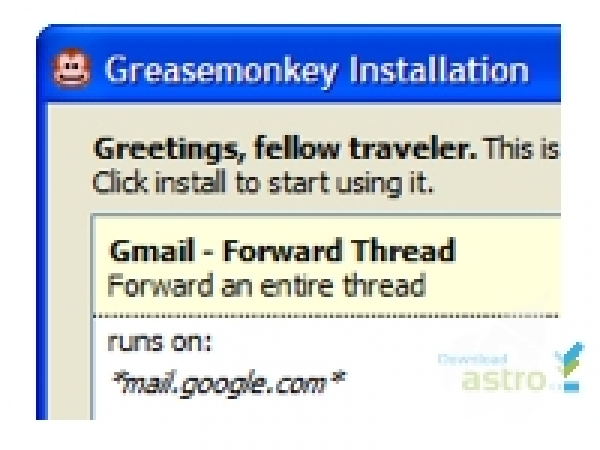 Captures d'écran Greasemonkey for FireFox