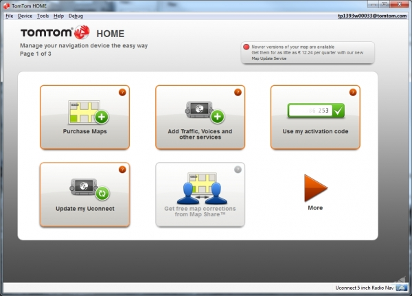 Screenshot TomTom Home